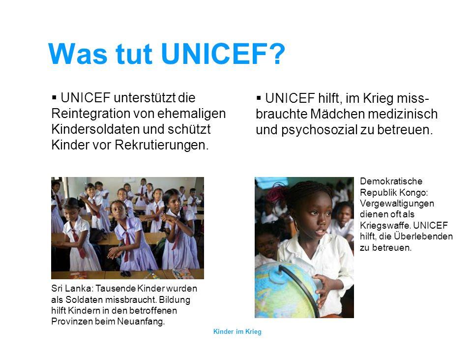 Kinder im Krieg Was tut UNICEF.