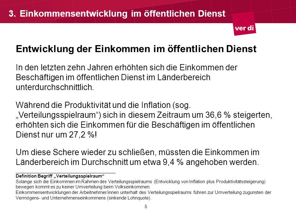 6 Tabellenentwicklung im öffentlichen Dienst Differenz der TV-L-Tabelle zur Tabelle Bund/VKA ab 2013: Zum 1.1.2013 durchschnittlich 2,25% Differenz (Ø 64,38 ) Von 31,89 Euro (EG 1 Stufe 2) bis zu 132,57 Euro (EG 15 Stufe 5) Zum 1.8.2013 durchschnittlich 3,59% Differenz (Ø 104,15 ) Von 53,18 Euro (EG 1 Stufe 2) bis zu 209,53 Euro (EG 15 Stufe 5) Differenz im Durchschnitt für das Kalenderjahr 2013 = 2,81% 3.Tabellenentwicklung im öffentlichen Dienst