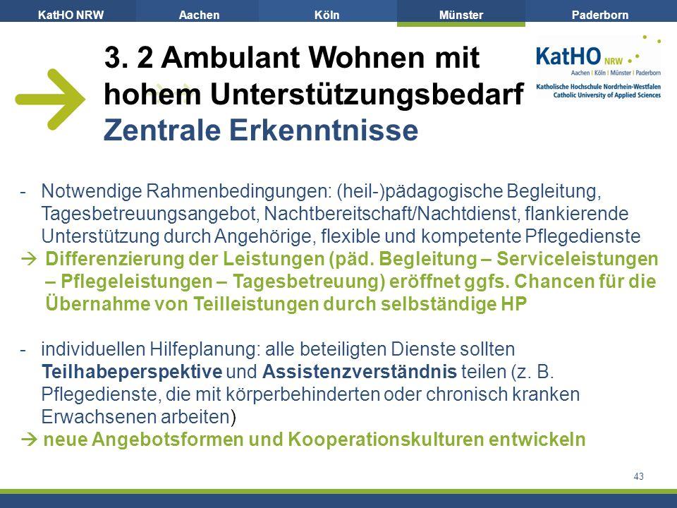 KatHO NRWAachenKölnMünsterPaderborn 43 3.