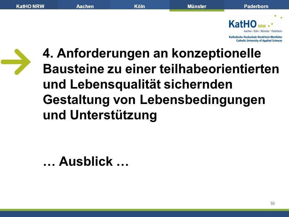 KatHO NRWAachenKölnMünsterPaderborn 50 4.