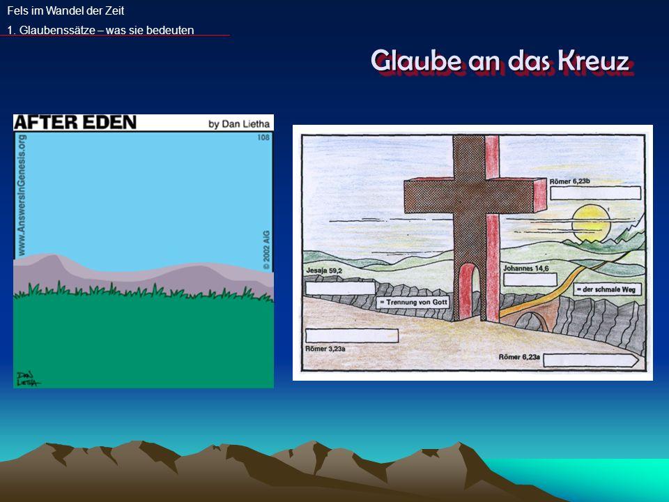 Glaube an das Kreuz Fels im Wandel der Zeit 1. Glaubenssätze – was sie bedeuten