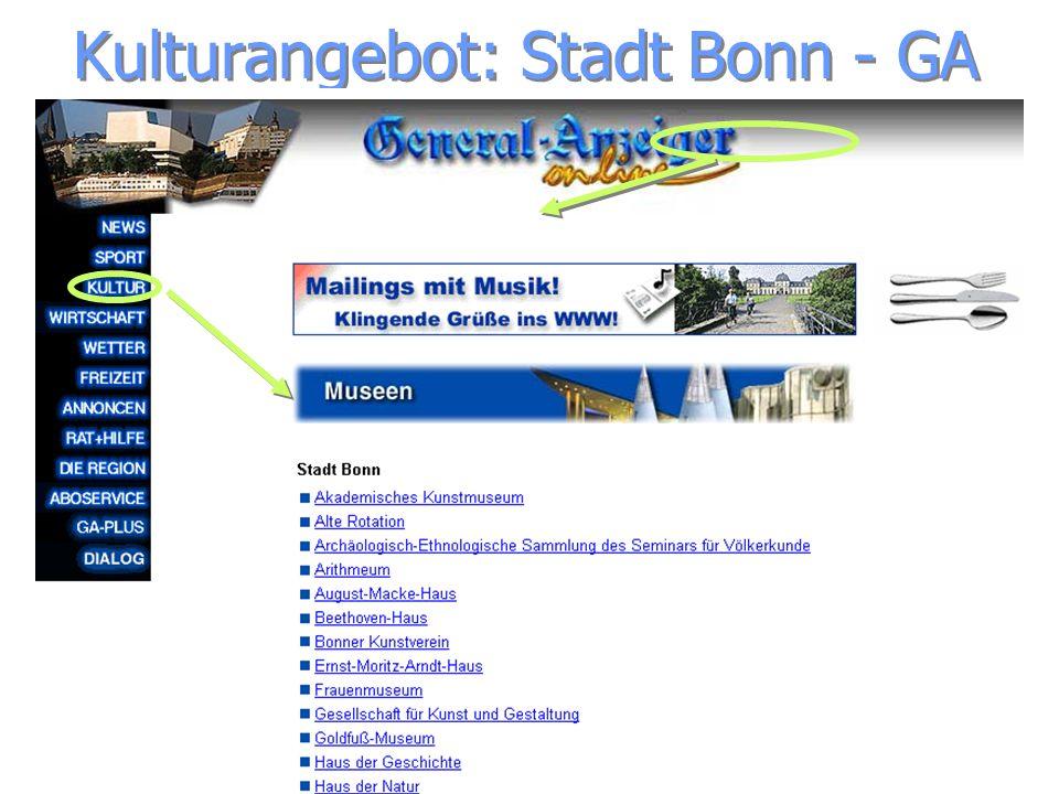 Kulturangebot: Stadt Bonn - GA