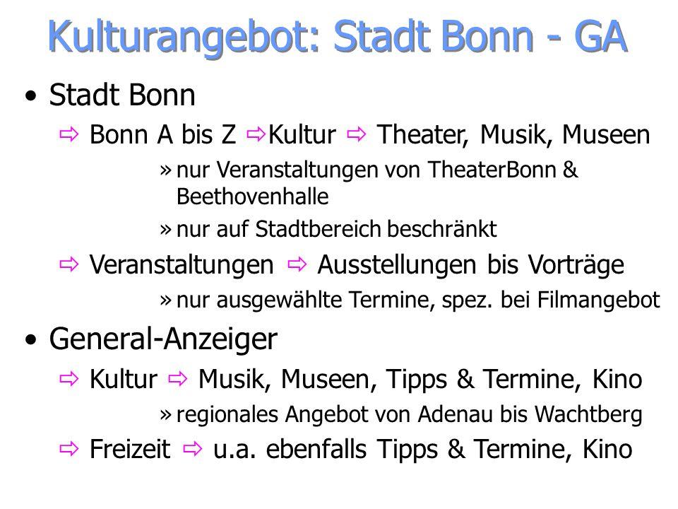 Stadt Bonn Bonn A bis Z Kultur Theater, Musik, Museen »nur Veranstaltungen von TheaterBonn & Beethovenhalle »nur auf Stadtbereich beschränkt Veranstal