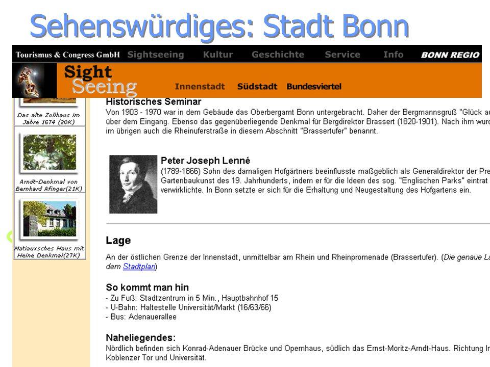 Sehenswürdiges: Stadt Bonn