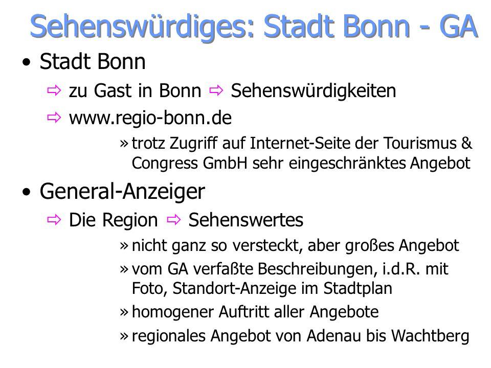 Sehenswürdiges: Stadt Bonn - GA Stadt Bonn zu Gast in Bonn Sehenswürdigkeiten www.regio-bonn.de »trotz Zugriff auf Internet-Seite der Tourismus & Cong