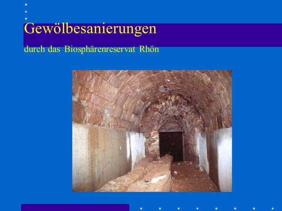 Gewölbesanierungen durch das Biosphärenreservat Rhön