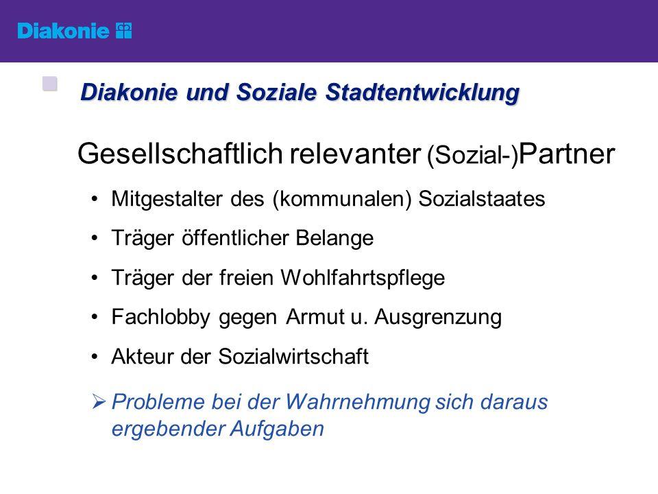 Gesellschaftlich relevanter (Sozial-) Partner Mitgestalter des (kommunalen) Sozialstaates Träger öffentlicher Belange Träger der freien Wohlfahrtspfle