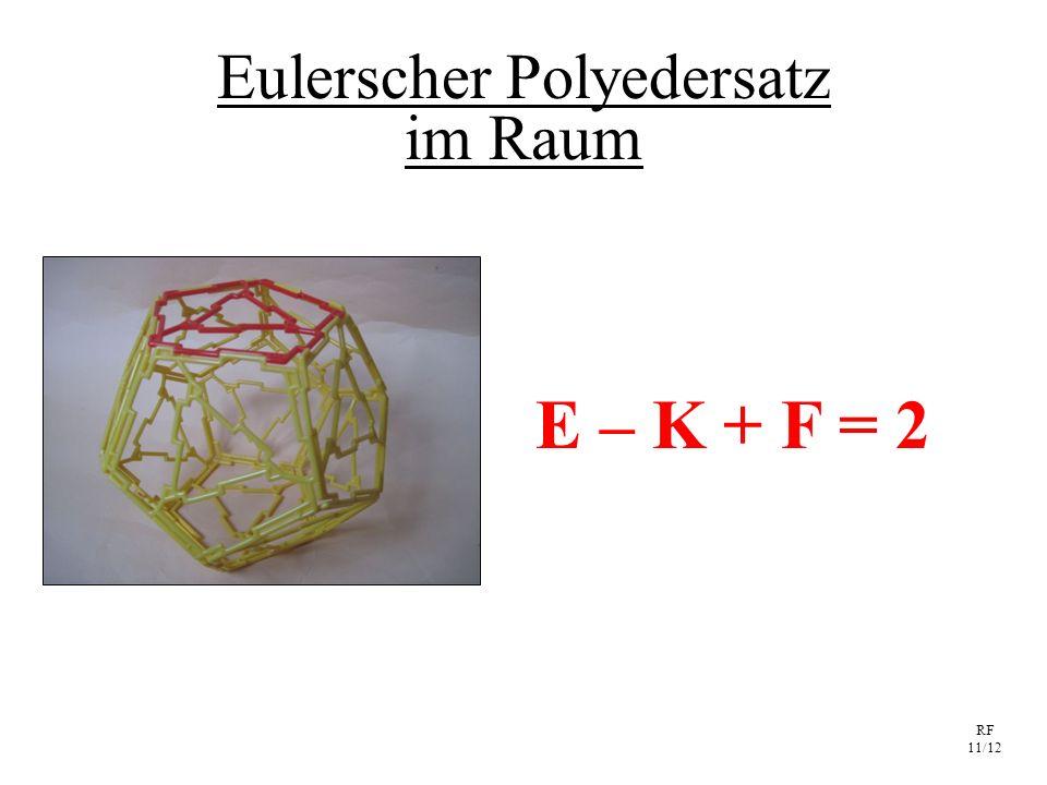 RF 11/12 Eulerscher Polyedersatz im Raum E – K + F = 2