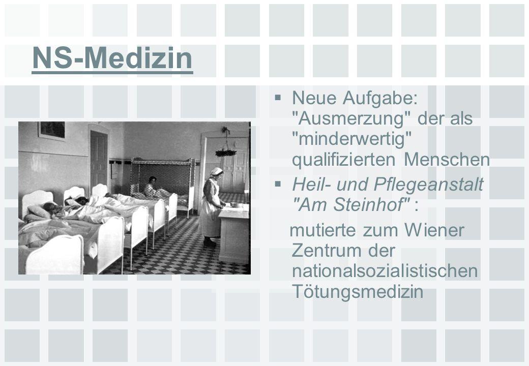 NS-Medizin Neue Aufgabe: