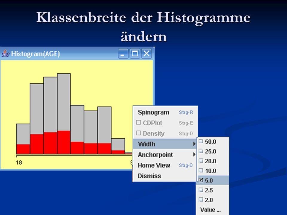 Klassenbreite der Histogramme ändern
