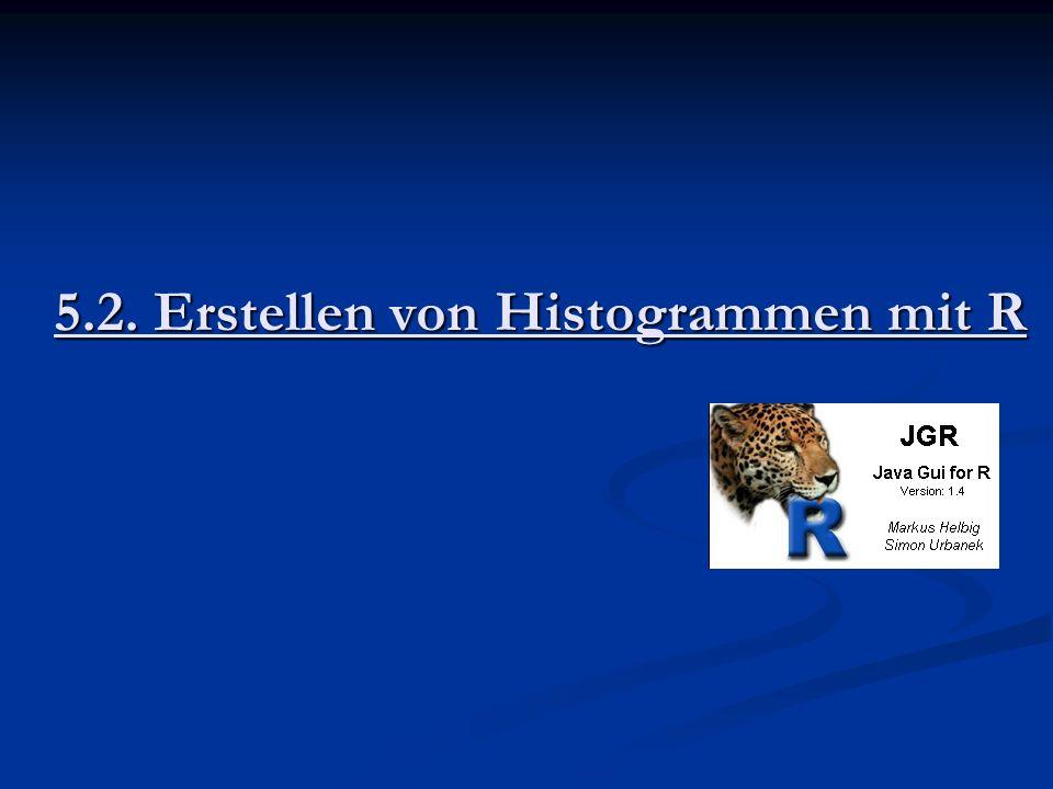 5.2. Erstellen von Histogrammen mit R