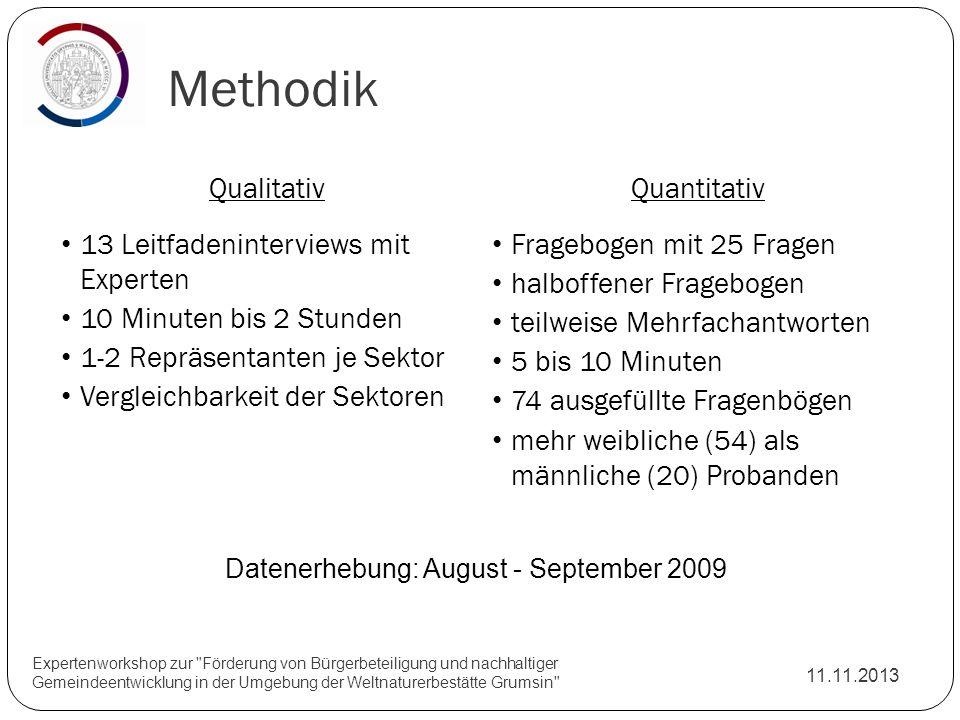 Methodik 11.11.2013 Expertenworkshop zur