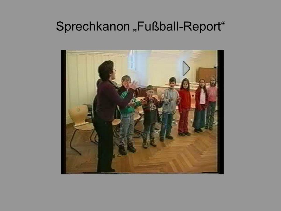 Sprechkanon Fußball-Report