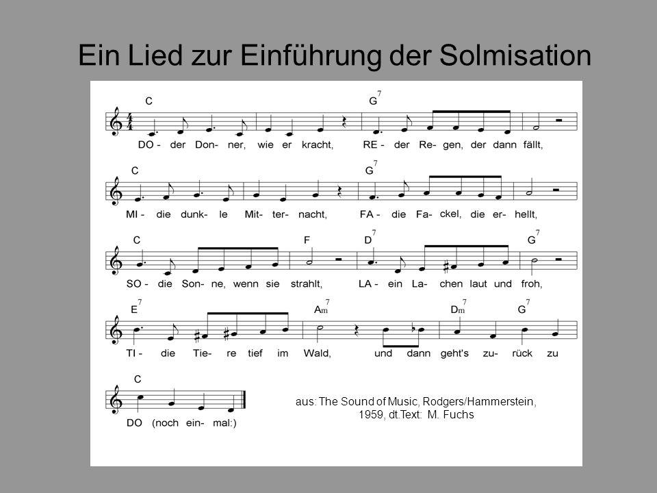 Ein Lied zur Einführung der Solmisation aus: The Sound of Music, Rodgers/Hammerstein, 1959, dt.Text: M.