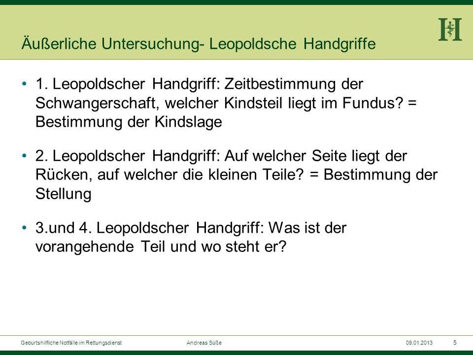 4 Geburtshilfliche Notfälle im Rettungsdienst Andreas Süße09.01.2013 Fundusstand nach SSW