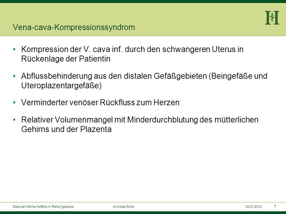 6 Geburtshilfliche Notfälle im Rettungsdienst Andreas Süße09.01.2013 Leopoldsche Handgriffe