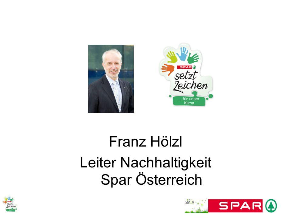 Franz Hölzl Leiter Nachhaltigkeit Spar Österreich