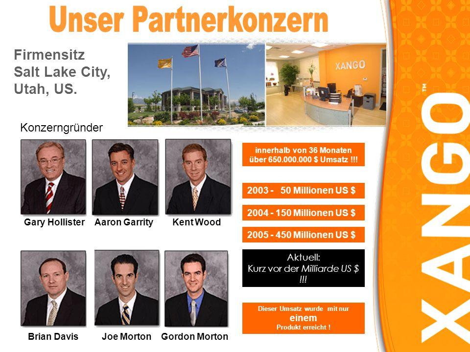 Joe MortonBrian DavisGordon Morton Kent WoodAaron GarrityGary Hollister Konzerngründer Firmensitz Salt Lake City, Utah, US.