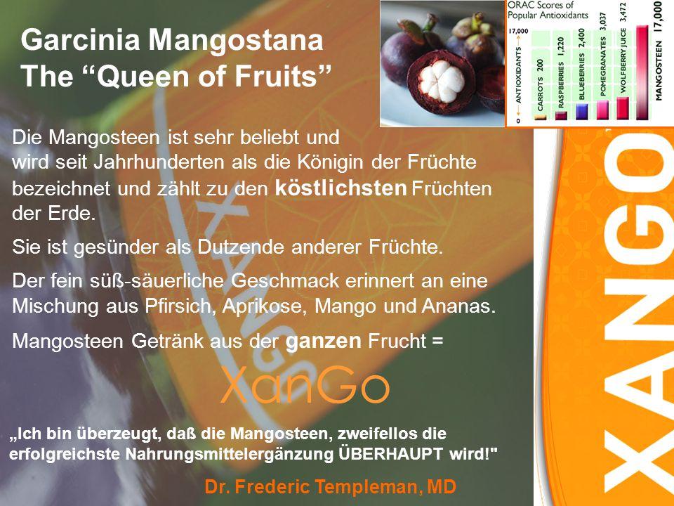 Garcinia Mangostana The Queen of Fruits Die Mangosteen ist sehr beliebt und wird seit Jahrhunderten als die Königin der Früchte bezeichnet und zählt zu den köstlichsten Früchten der Erde.