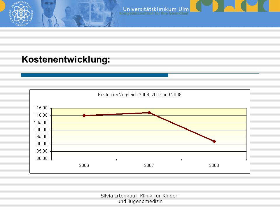 Silvia Irtenkauf Klinik für Kinder- und Jugendmedizin Kostenentwicklung: