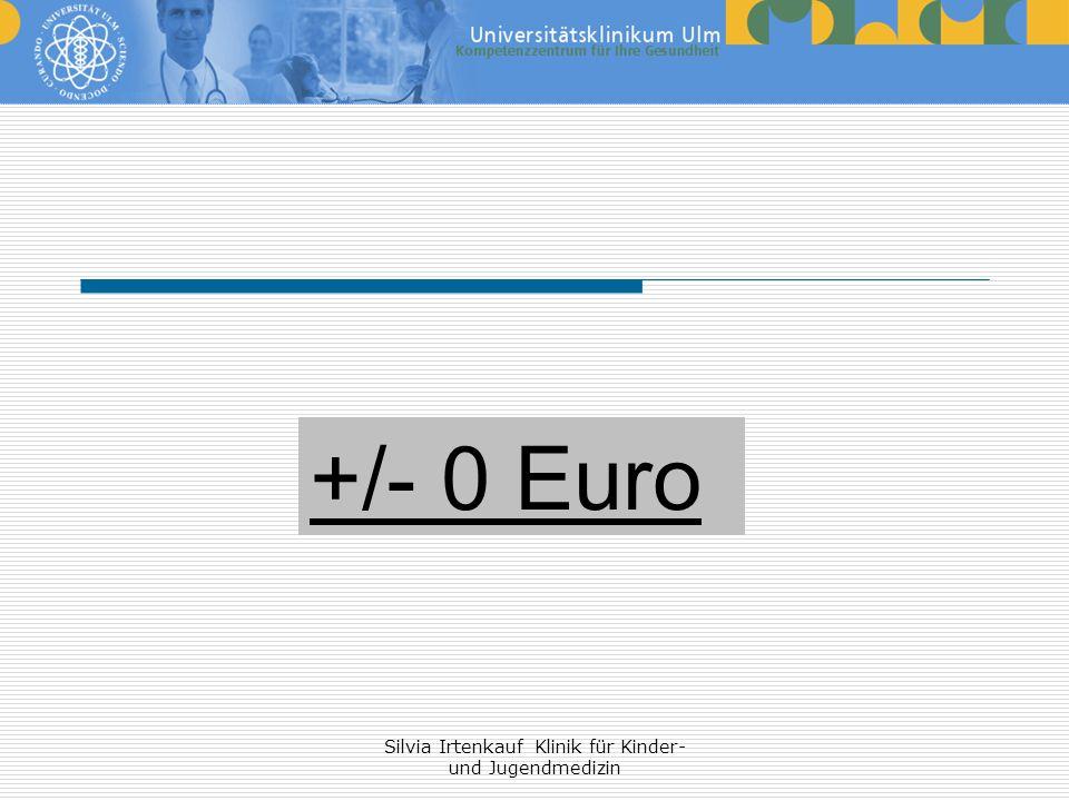 Silvia Irtenkauf Klinik für Kinder- und Jugendmedizin +/- 0 Euro