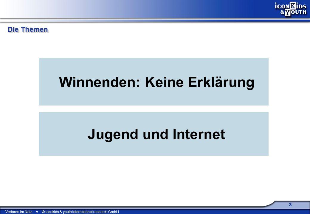 Verloren im Netz © iconkids & youth international research GmbH 4 Die Themen Winnenden: Keine Erklärung Jugend und Internet