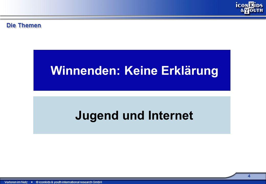 Verloren im Netz © iconkids & youth international research GmbH 55 Axel Dammler: Verloren im Netz.