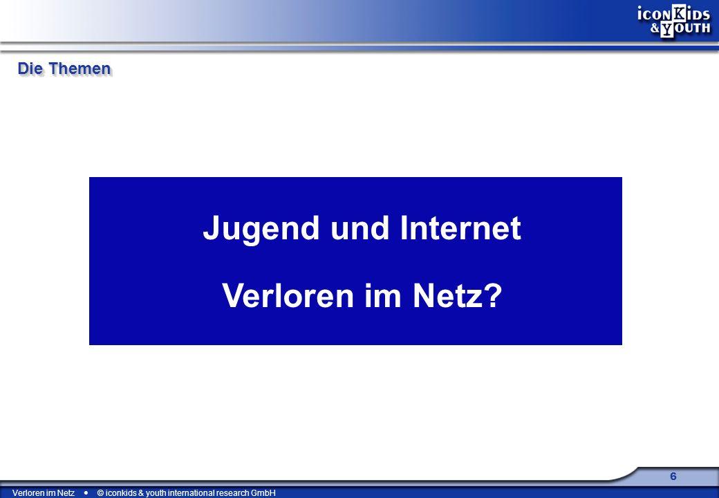 Verloren im Netz © iconkids & youth international research GmbH 17 + 4 % 42 % 46 % Manchmal ärgert es mich, dass ich so schüchtern bin. Repräsentative Befragung von 12- bis 17-Jährigen (1998: n = 710, 2007: n = 607)