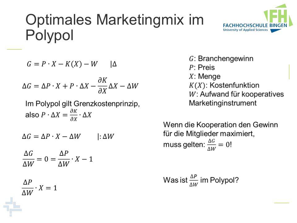 Optimales Marketingmix im Polypol