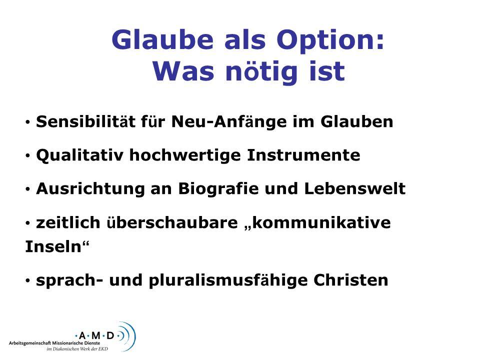 Ressourcen & Kooperationen Institut zur Erforschung von Evangelisation und Gemeindeaufbau (Greifswald) Dipl.-Sozialwissenschaftlerin (ehem.