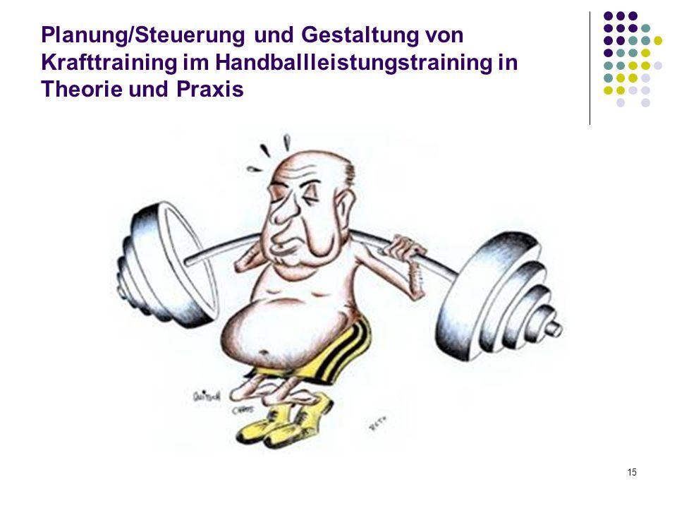 15 Planung/Steuerung und Gestaltung von Krafttraining im Handballleistungstraining in Theorie und Praxis