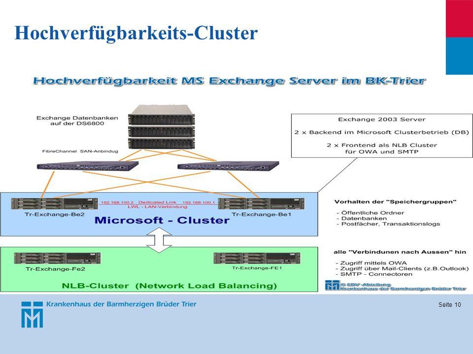 Seite 10 Hochverfügbarkeits-Cluster