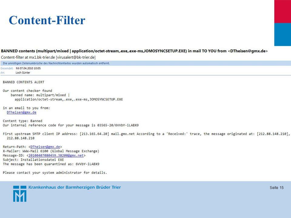 Seite 15 Content-Filter