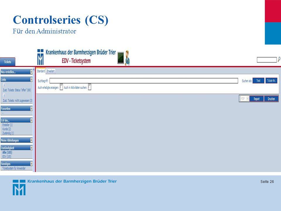 Seite 26 Controlseries (CS) F ü r den Administrator
