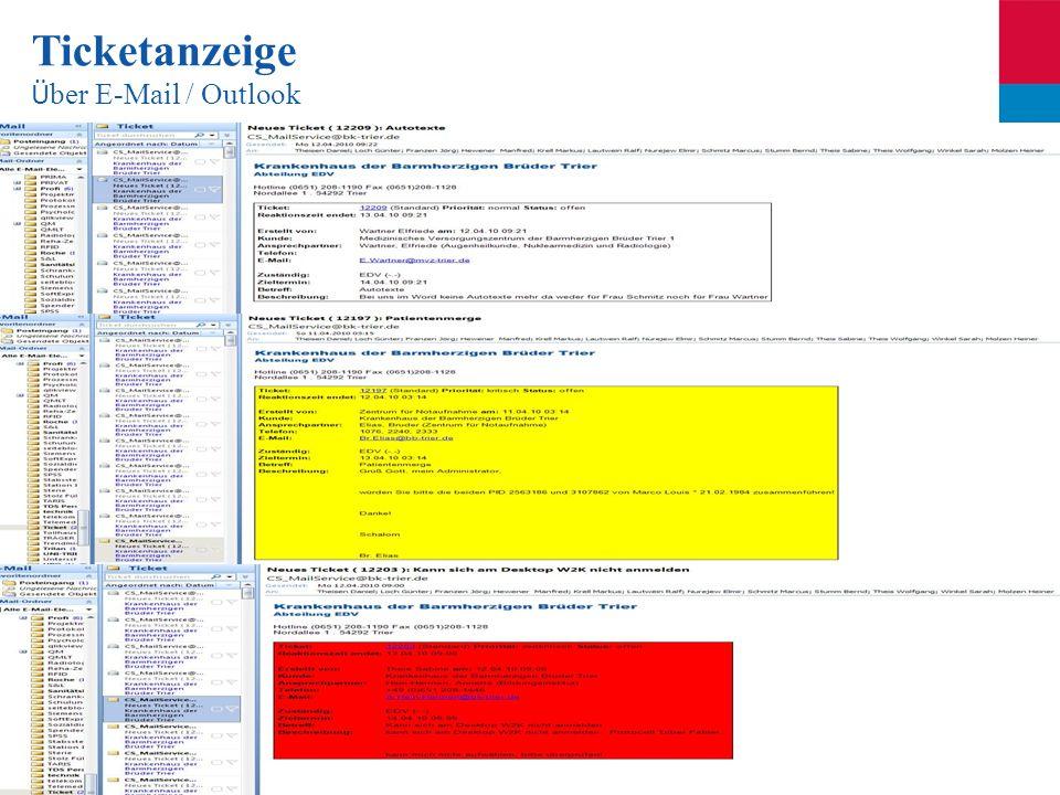Seite 44 Ticketanzeige Ü ber E-Mail / Outlook