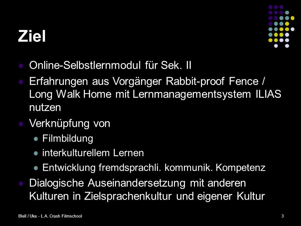 Blell / Uka - L.A.Crash Filmschool3 Ziel Online-Selbstlernmodul für Sek.