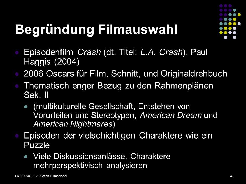 Blell / Uka - L.A.Crash Filmschool4 Begründung Filmauswahl Episodenfilm Crash (dt.