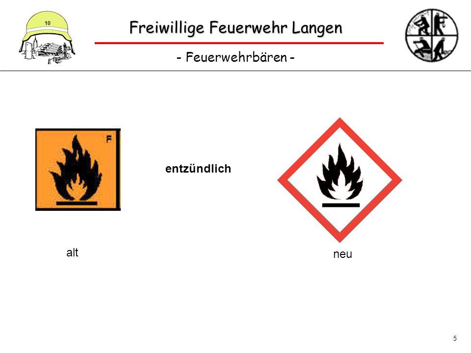 Freiwillige Feuerwehr Langen - Feuerwehrbären - 10 5 entzündlich alt neu