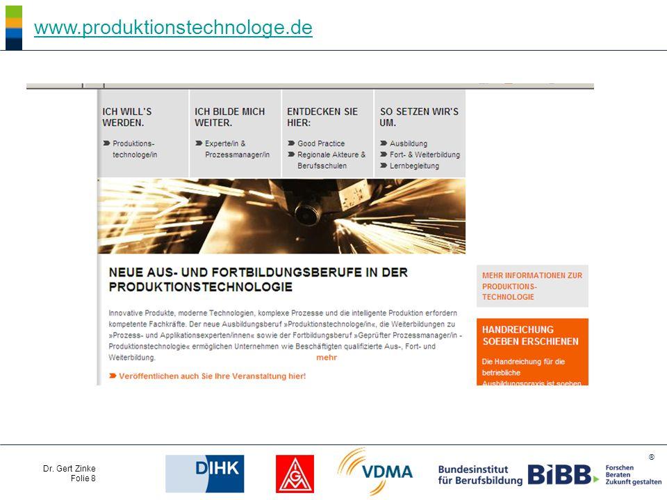 ® Dr. Gert Zinke Folie 8 www.produktionstechnologe.de
