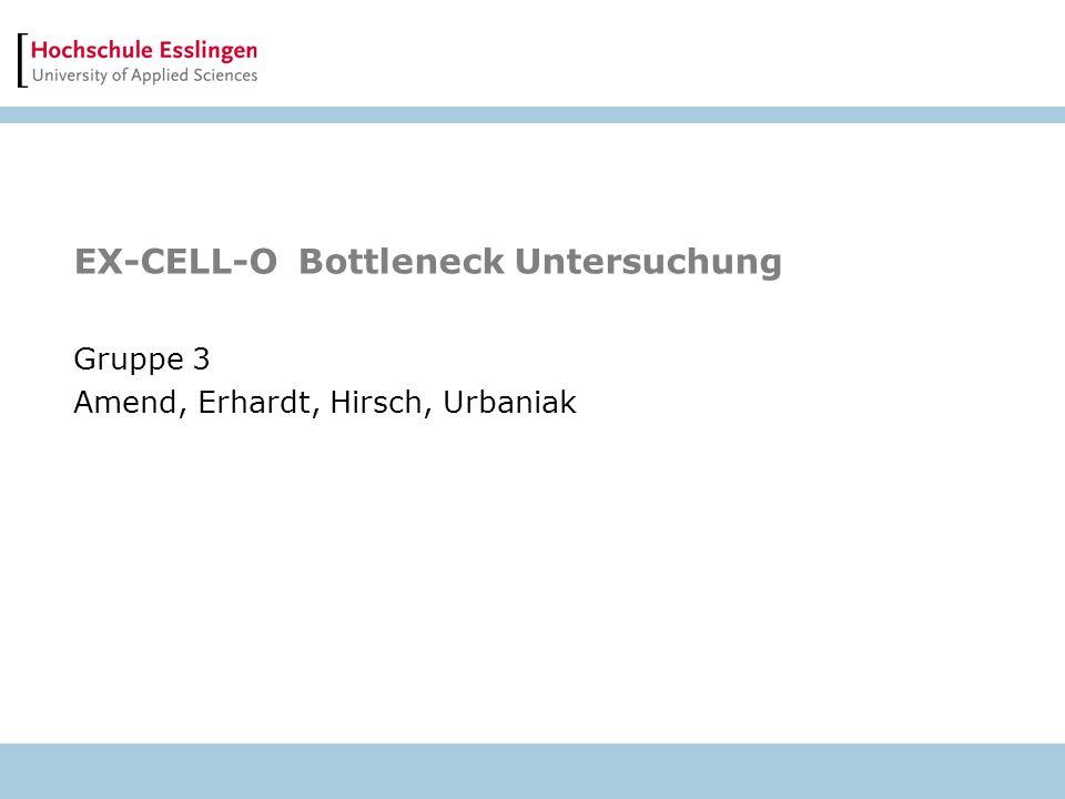 EX-CELL-O Bottleneck Untersuchung Gruppe 3 Amend, Erhardt, Hirsch, Urbaniak