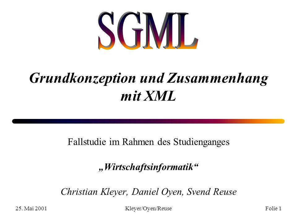 25.Mai 2001Kleyer/Oyen/ReuseFolie 12 2. Wirtschaftliche Bedeutung 2.1.