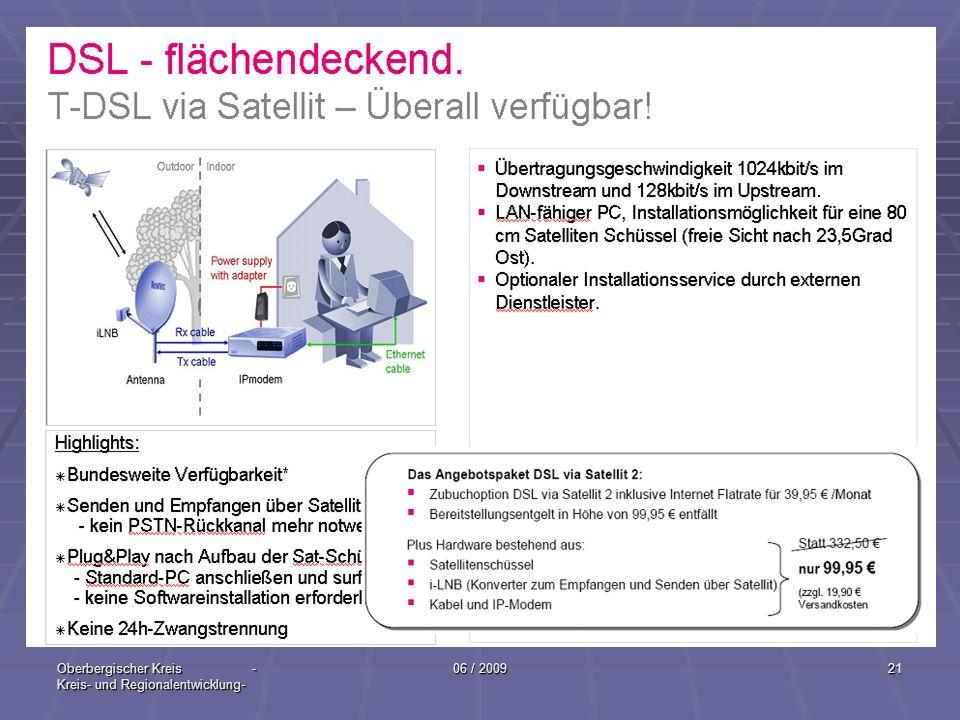 Oberbergischer Kreis - Kreis- und Regionalentwicklung- 06 / 200921