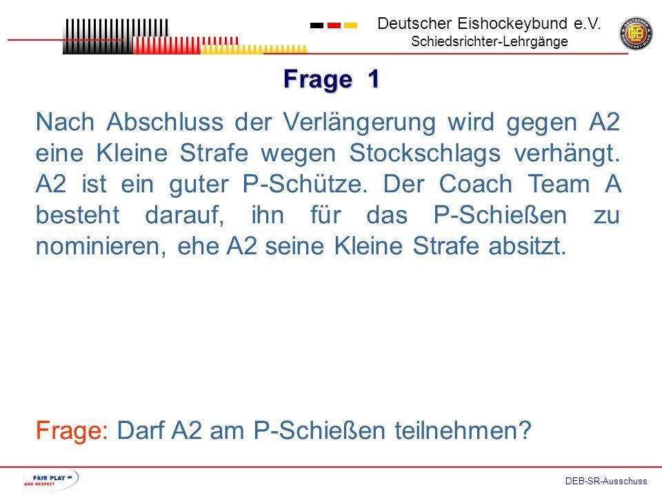 Frage 1 Deutscher Eishockeybund e.V.