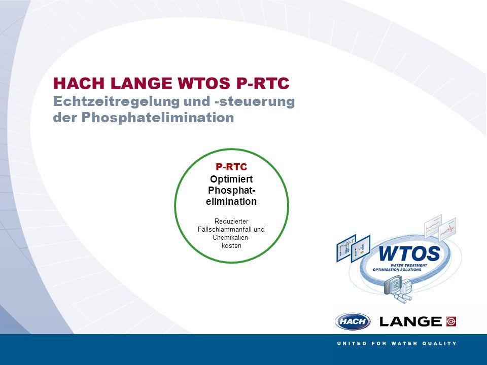 AMERICAN SIGMA BÜHLER MONTEC CONTRONIC HACH LANGE POLYMETRON RADIOMETER ANALYTICAL 5 HACH LANGE WTOS P-RTC Echtzeitregelung und -steuerung der Phospha