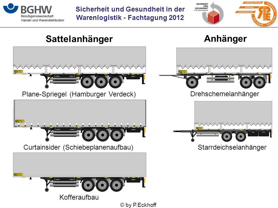 Sicherheit und Gesundheit in der Warenlogistik - Fachtagung 2012 © by P.Eckhoff Sattelanhänger Anhänger Plane-Spriegel (Hamburger Verdeck) Curtainside