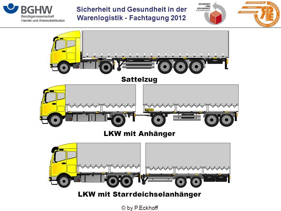 Sicherheit und Gesundheit in der Warenlogistik - Fachtagung 2012 © by P.Eckhoff LKW mit Starrdeichselanhänger LKW mit Anhänger Sattelzug