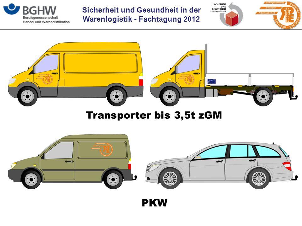 Sicherheit und Gesundheit in der Warenlogistik - Fachtagung 2012 Transporter bis 3,5t zGM PKW