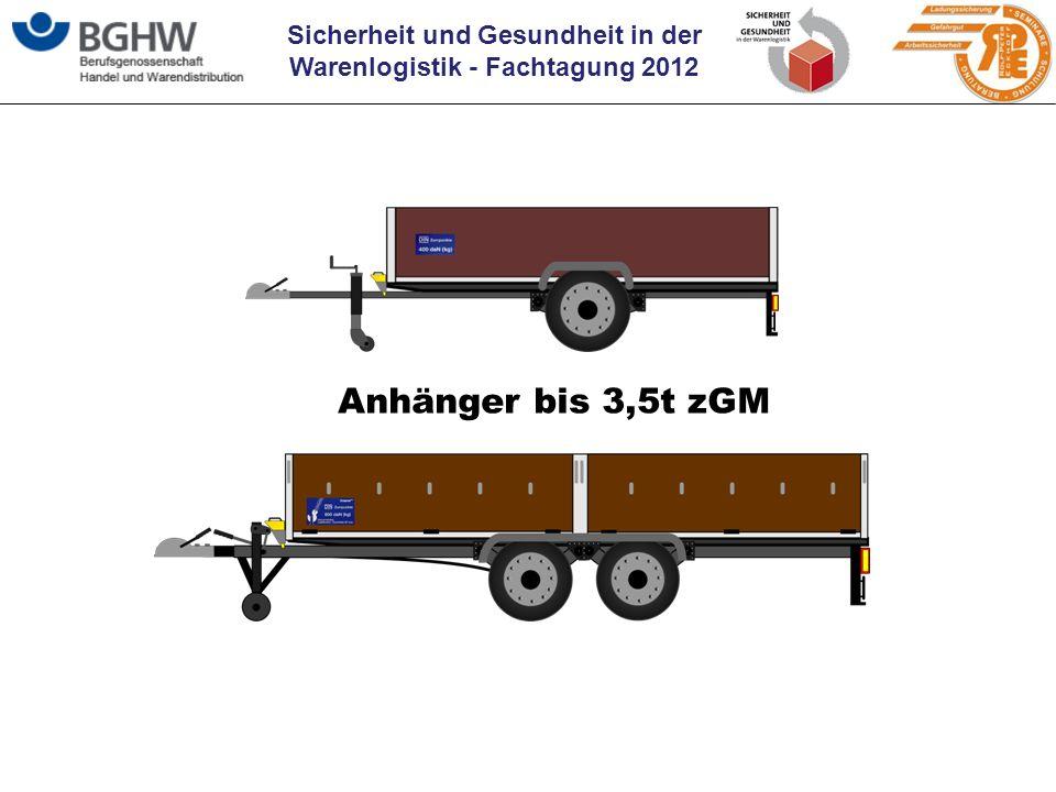 Sicherheit und Gesundheit in der Warenlogistik - Fachtagung 2012 Anhänger bis 3,5t zGM