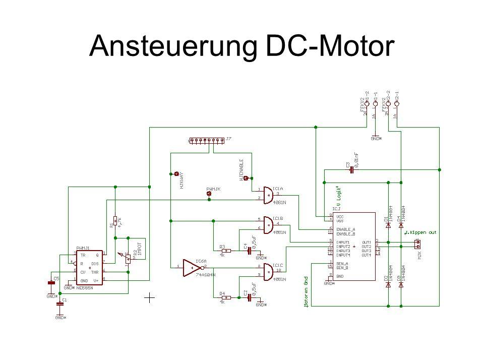 Ansteuerung DC-Motor
