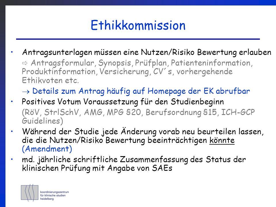 Behördenmeldung involviert werden müssen: BfArM (Arzneimittel (AM), Anwendungsbeobachtung) PEI (Impfstoffe, Sera) Bundesamt für Strahlenschutz (Röntgenanwendg., ionis.
